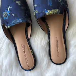 Who What Wear Shoes - Who What Wear • Navy Mules